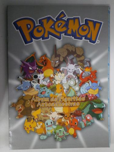 álbum de figuritas pokémon autoadhesivas