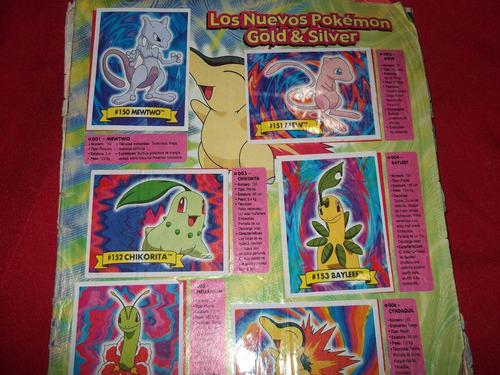 album de figuritas pokemon  los viajes de johto-lleno-