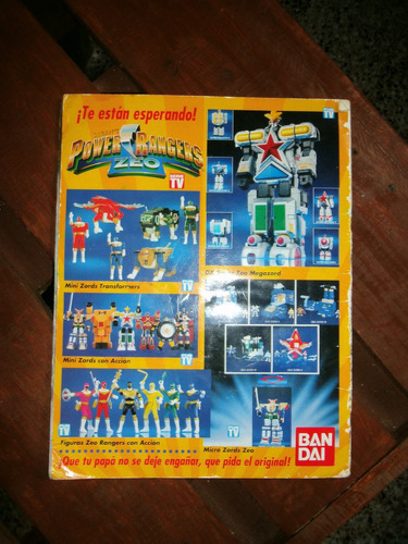 album de figuritas power rangers. cromy. coleccionable.