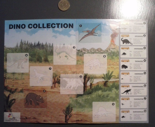 album de figuritas stickers dinosaurios dino collection