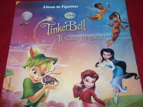 album de figuritas tinkerbell y el tesoro perdido-vacio