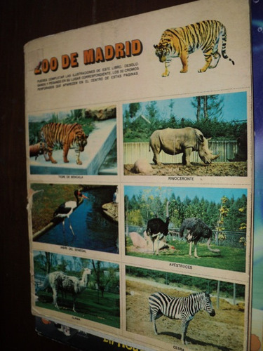 album de figuritas zoo de madrid  completo szw