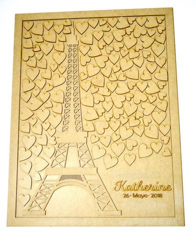 album de firmas, paris 150 torre eiffel quinceaños, art1024