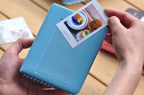 álbum de fotos da instax mini 7 8 e 9 para 64 fotos azul
