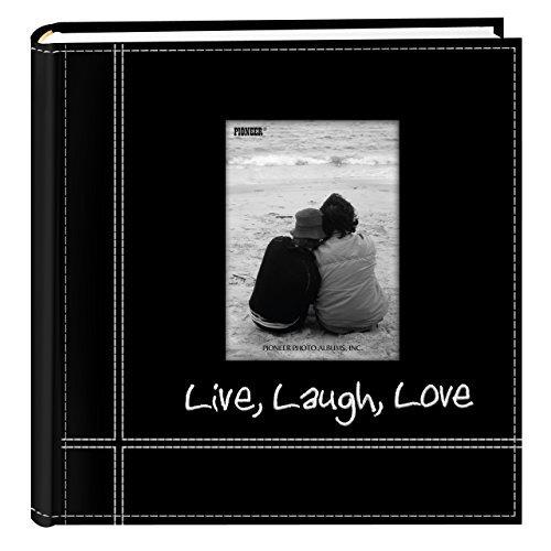 album de fotos pioneer bordado en vivo, risa, amor, cosido,