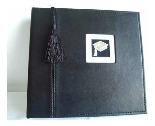álbum de graduación color negro 160 fotos importado