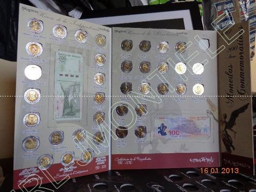 album de monedas 5 pesos y billetes conmem. bicentenari_ lqe