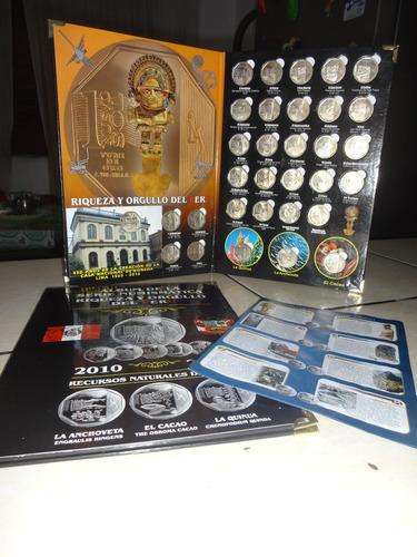 álbum de monedas de colección del perú - 31 monedas + álbum