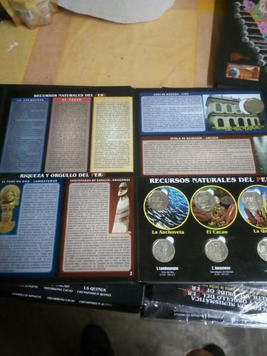 álbum de monedas riquezas y orgullo del perú