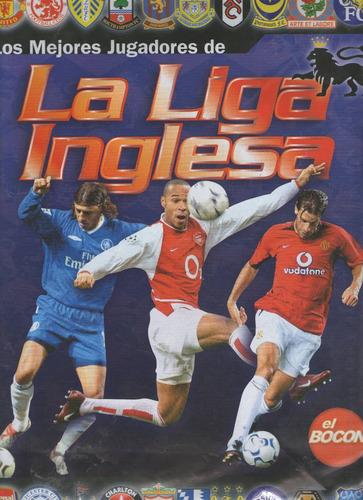 album de stickers  los mejores jugadores de la liga ingles