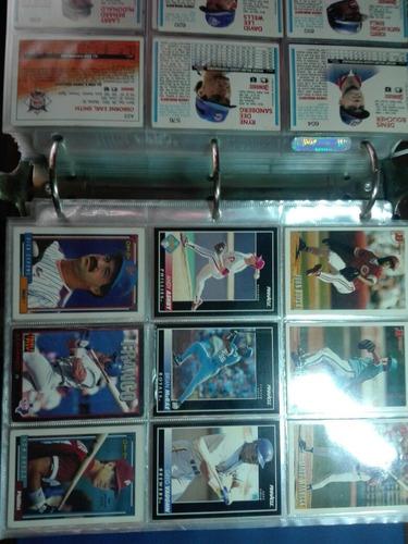 album de tarjetas de baseball