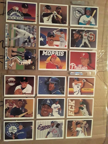 album de tarjetas mlb 92 fleer ultra