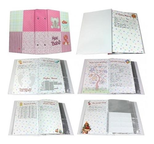 álbum diário do bebê 10x15 fem.(0118) 500 fotos universal
