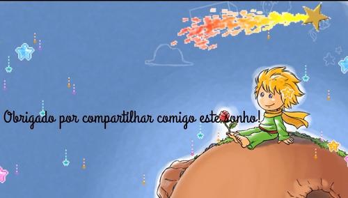 álbum digital animado pequeno príncipe envio por email