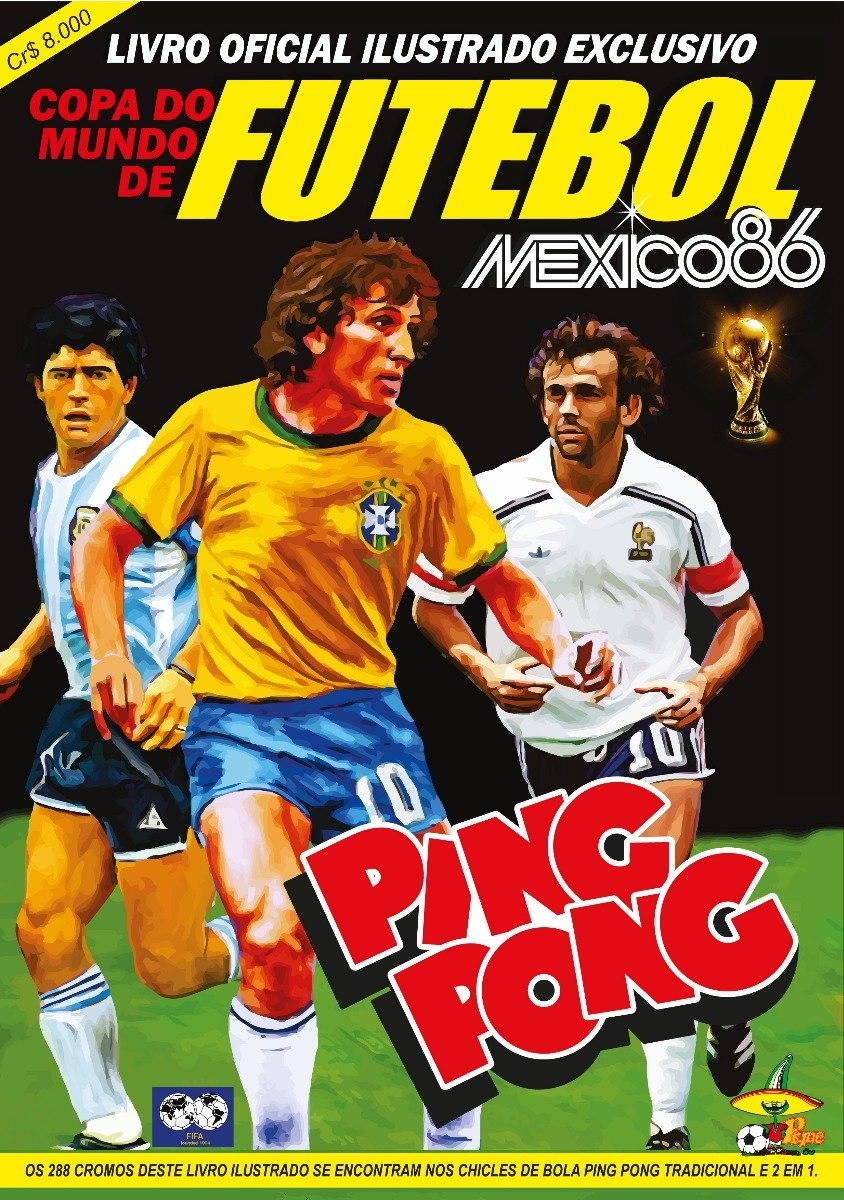 c4a2e5d7fdcec Álbum Digitalizado Copa Do Mundo 1986 Ping Pong + 2 Álbuns - R  6
