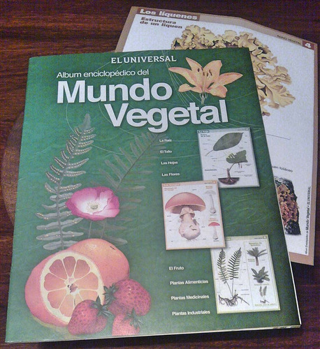 álbum enciclopédico mundo vegetal el universal + 4 láminas