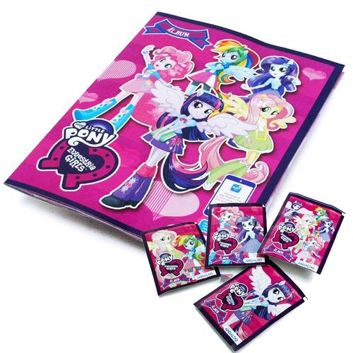 album equestria girl little pony + 50 sobres nuevo sellado