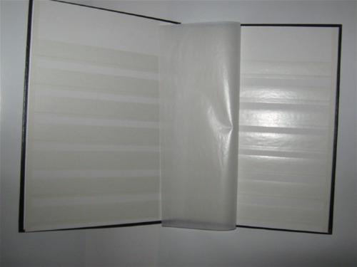 album estampillas tapas cuerina- holandes 4 hojas importador