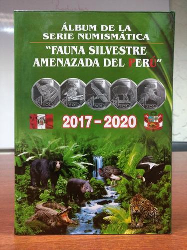 album fauna silvestre con monedas de coleccion