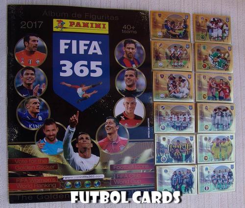 album fifa 365 [2017] panini completo a pegar + extras
