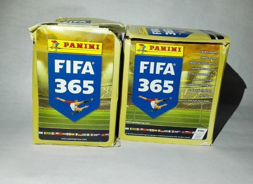 album fifa 365 incompleto + 2 cajas de barajitas repetidas.