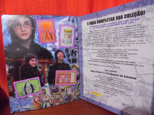 album fig - harry potter prisioneiro de azkaban - incompleto