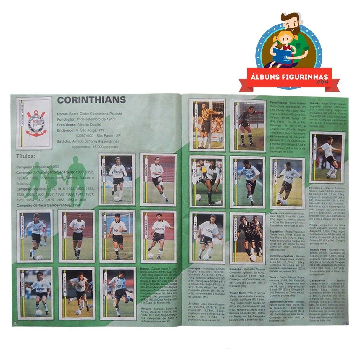 c9dd4c7c3ec8d álbum figurinhas campeonato brasileiro 1994 completo. Carregando zoom.