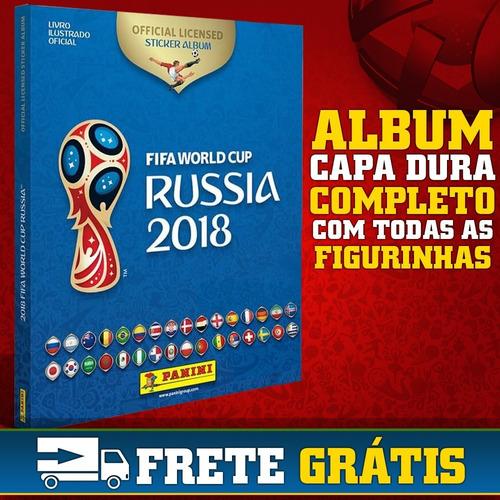 álbum figurinhas copa da rússia 2018 capa dura completo