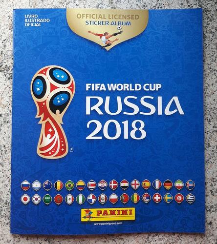 álbum figurinhas copa do mundo 2018 - completo - para colar