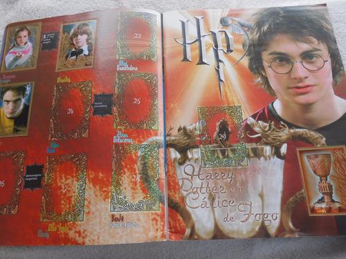 álbum figurinhas harry potter e o cálice de fogo incompleto