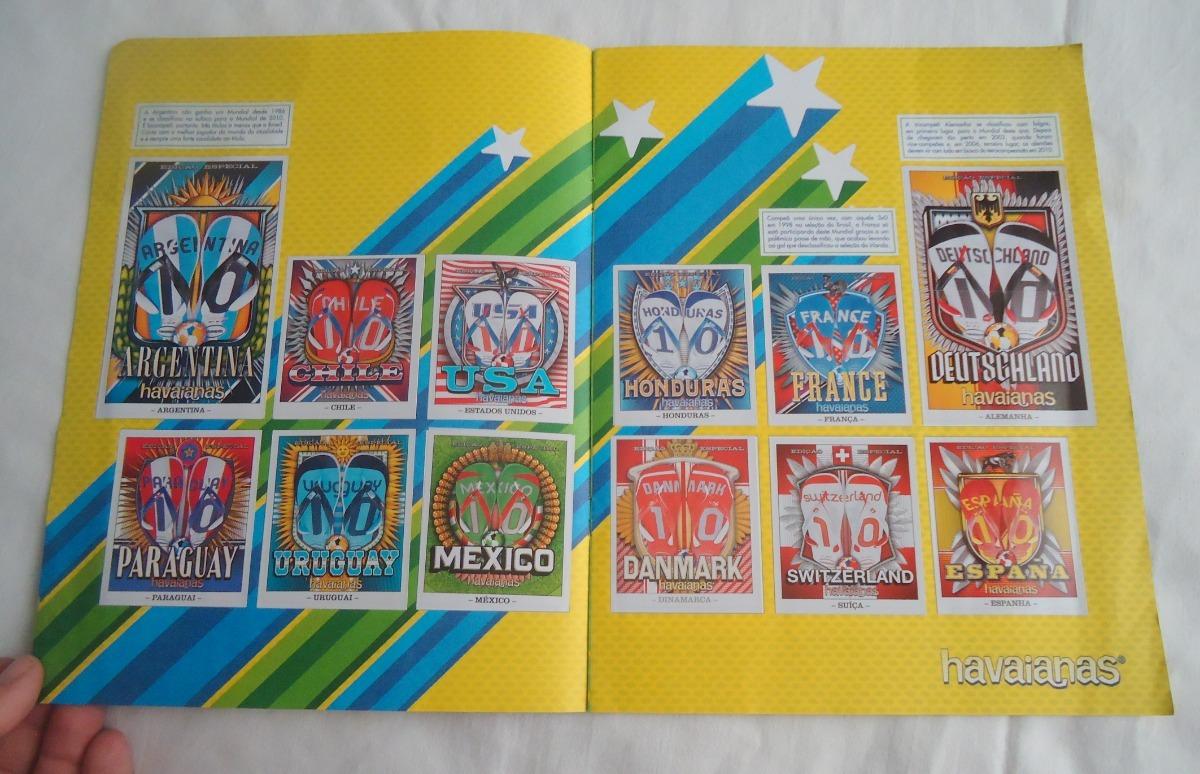 957a31db2 Carregando zoom... álbum figurinhas havaianas teams edição especial copa  2010