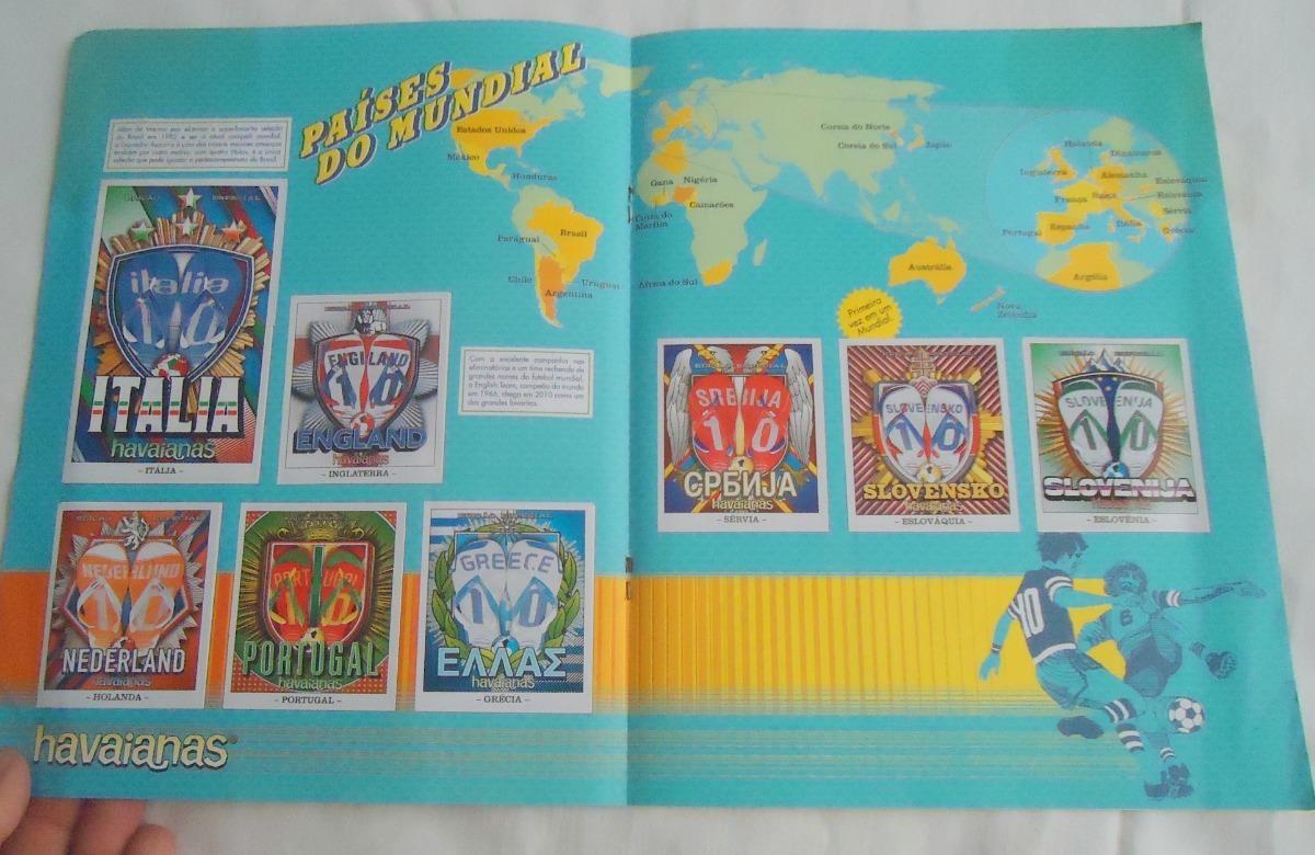673193ce0 Álbum Figurinhas Havaianas Teams Edição Especial Copa 2010 - R  49 ...