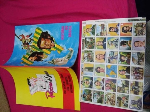 álbum figurinhas historia do brasil raro anos 70 otimo