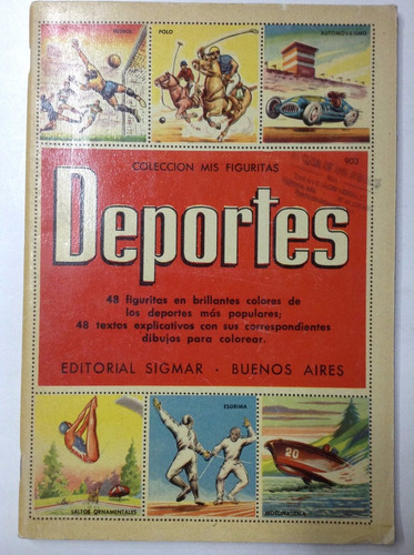 album figuritas deportes editorial sigmar 1958