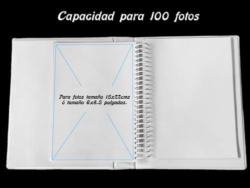 album fotográfico p/ 100 fotos 13x18cms, ó 5x7 pulgadas ep