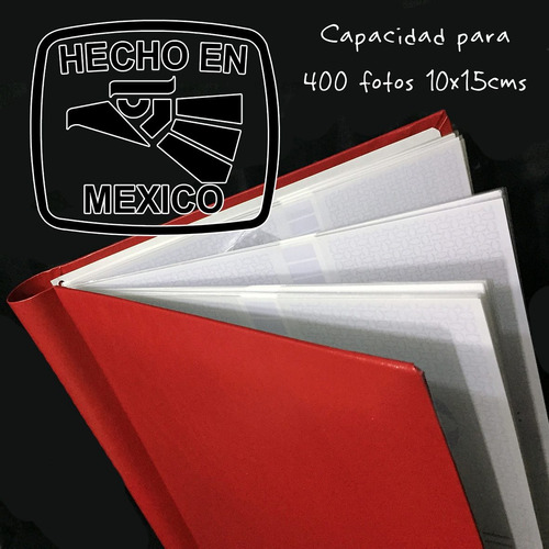 album fotografico p/ 400 fotos r (10x15cms) hecho en mexico