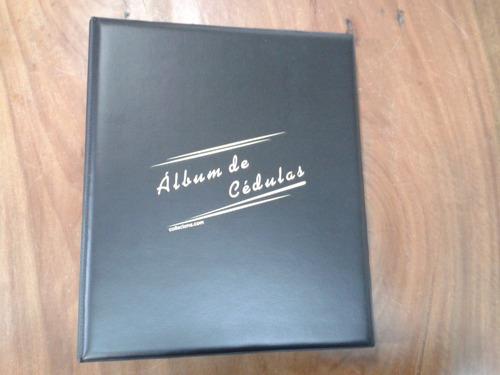 album grande p/ 200 cédulas 50 folhas capa pvc 4 argola