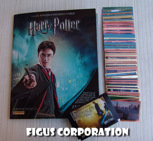 album harry potter animales fantasticos - completo a pegar