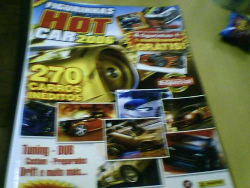 álbum hot car 2006 incompleto