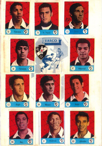 álbum ídolos do robertão 1969 editora sadira - scaner(cd 07)