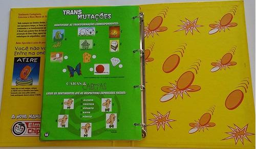 *álbum ilustrado tazo mania - elma chips (57384-cx03)