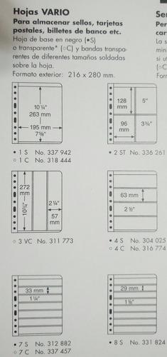 álbum leuchtturm de lujo para billetes con 30 hojas vario