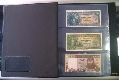 álbum libro para guardar 120 billetes antiguos colombianos