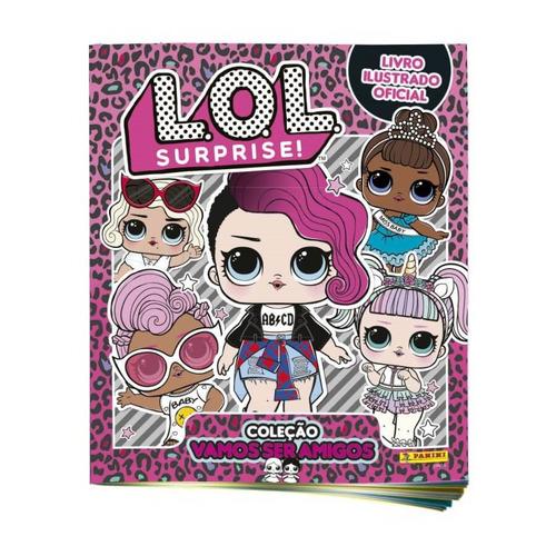album lol surprise serie 2 capa mole + 60 figurinhas panini