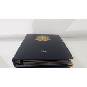 Álbum Luxo Moedas Plano Real Completo 1994 Com Comemorativa