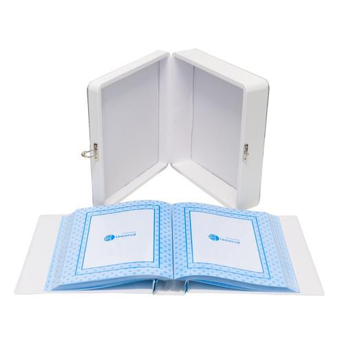 álbum maleta 20x25 1 aninho menino 150 fotos 15x21
