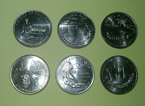 álbum mapa coleccionador monedas  cuartos estados