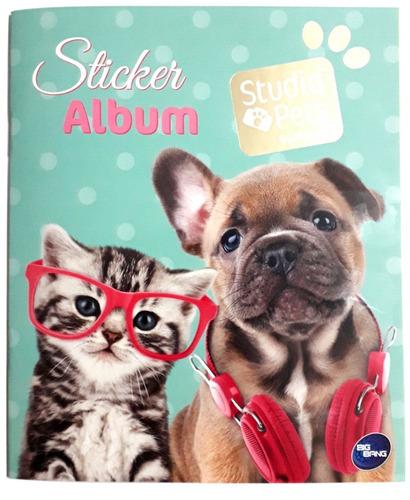 álbum mascotas studio pets + 50 sobres + envío / don lámina