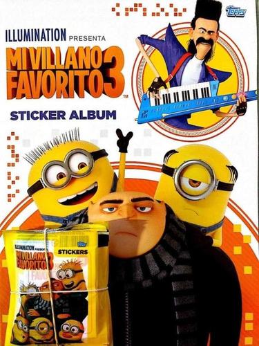 album mi villano favorito 3 minions +70 figuritas s/ repetir