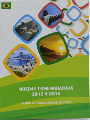 álbum  moedas de 1 real comemorativas jogos olímpicos,